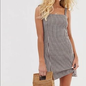 & Other Stories Brown Gingham Dress
